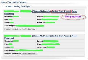 Enable SSH Hostgator