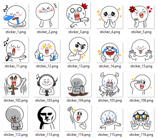 Line sticker demo