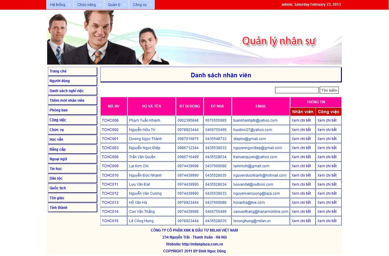 Bài tập lớn thiết kế website quản lý nhân sự bằng PHP