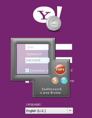 See hidden pass Yahoo