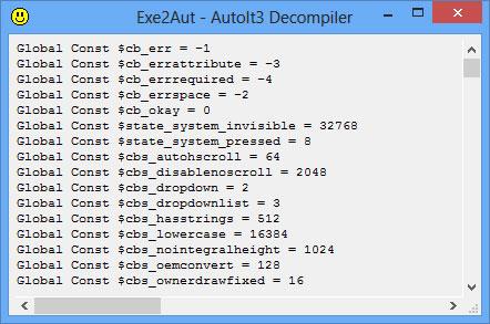 AutoIT decompiler – dịch ngược AutoIT