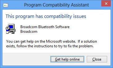 Trình cài đặt Bluetooth của Dell không tương thích với Windows 8