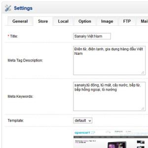 Setting Meta Keyword Store
