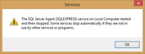 Fix lỗi không start được SQL Server Agent