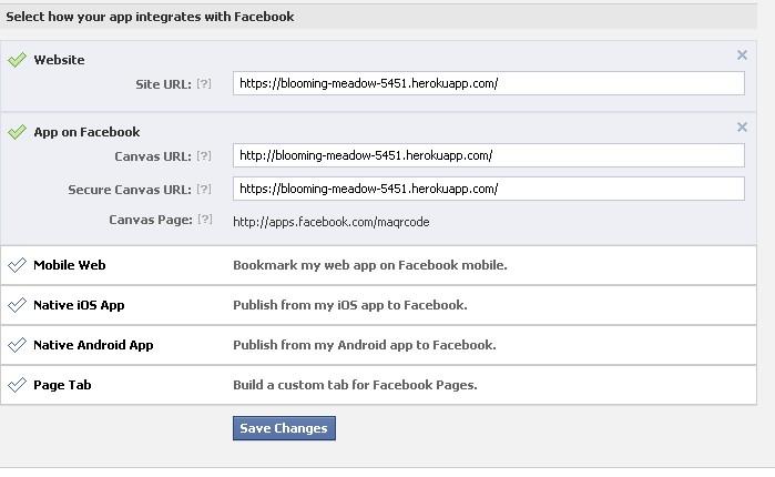 Cài đặt thông tin ứng dụng FB