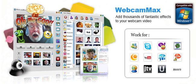 """WebcamMax 7.7.6.2 """"bản quyền"""" live webcam, fake webcame với hàng ngàn hiệu ứng"""