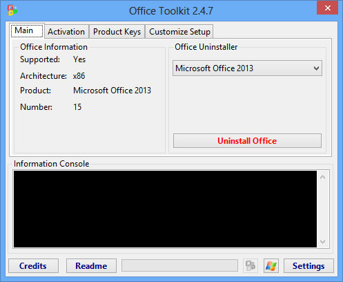 Microsoft Toolkit 2.4.7 bản quyền Office, Windows chỉ là chuyện nhỏ
