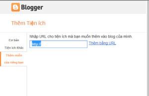 Thêm tiện ích từ URL tùy chỉnh